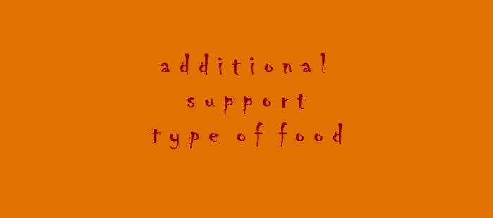 support type of food